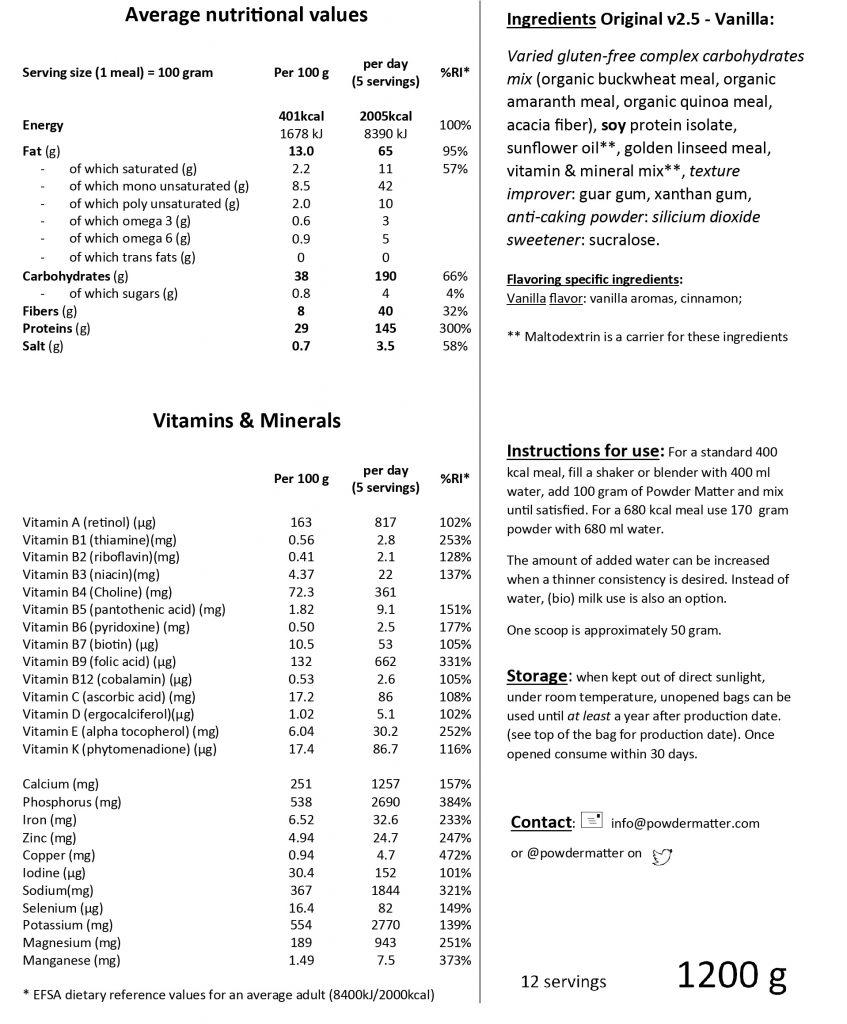 Backlabel 2.5 Vanilla